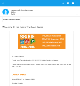 Welcome to the Bribie Triathlon Series