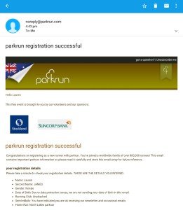 parkrun registration