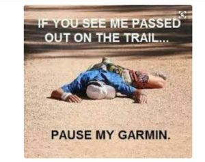 If you see me passed out on the trail, pause my Garmin