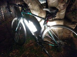 bike in darkness