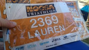 Race bib with my name on